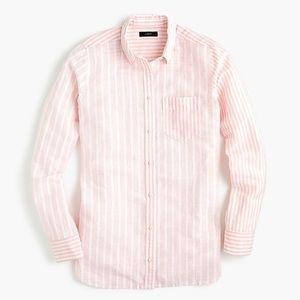J.Crew // Relaxed Tall Boy Cotton Linen Shirt